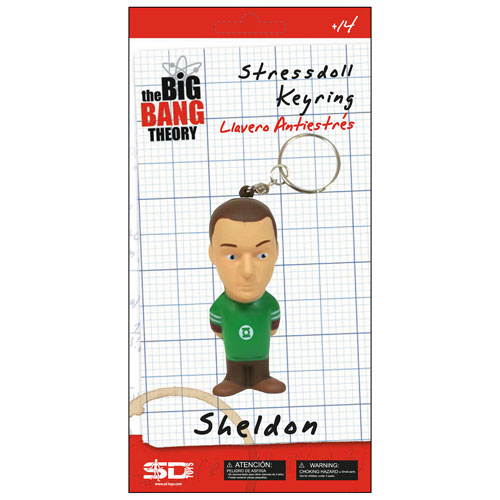 Big Bang Theory Sheldon Cooper Stress Toy Key Chain