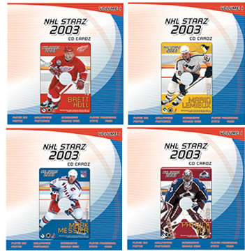 NHL Starz 2003 CD Cardz Set 1