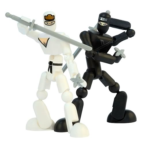 Stikfas G2 Alpha Male Black Ninja vs. White Ninja 2-Pack