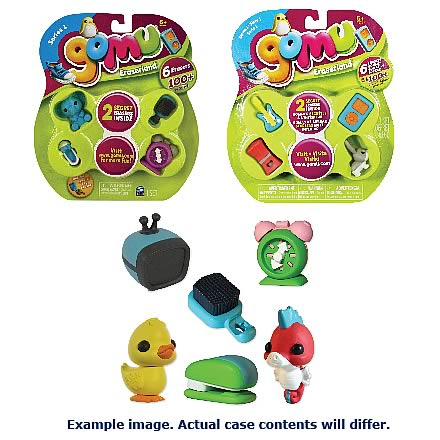 Gomu 6-Pack Assorted Erasers Case