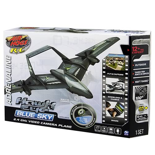 Air Hogs Hawk Eye Blue Sky Airplane RC Vehicle