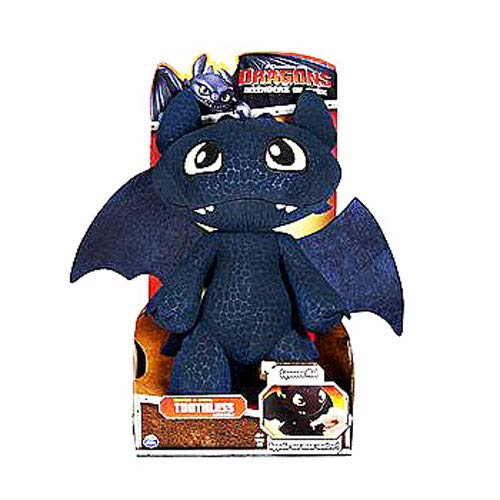 DreamWorks Dragons Toothless Squeeze and Growl Talking Plush