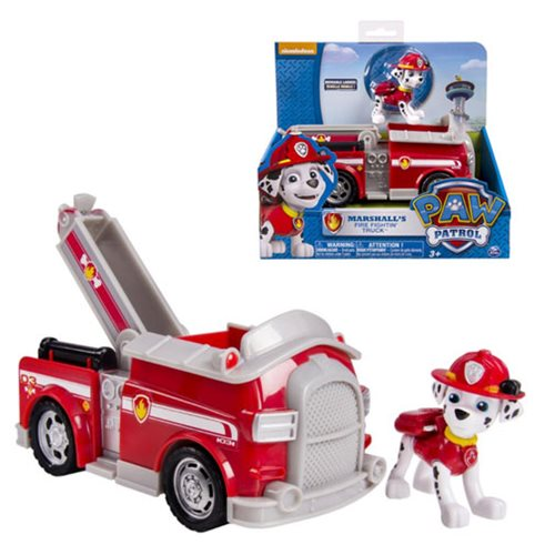 Paw Patrol Fire Truck Vehicle with Marshall
