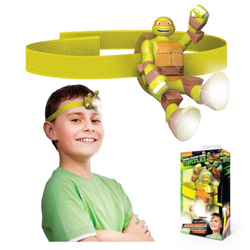 Nickelodeon TMNT Michelangelo Head Lamp Flashlight