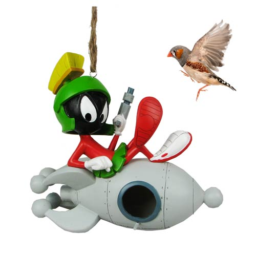 Looney Tunes Marvin the Martian Rocket Birdhouse