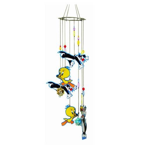 Looney Tunes Tweety & Sylvester Chase Metal Wind Chimes