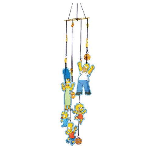 The Simpsons Figural Metal Wind Chimes