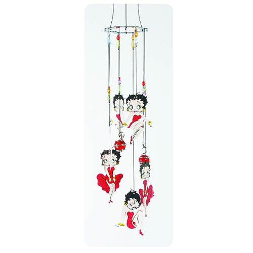 Betty Boop Red Dress Metal Wind Chimes