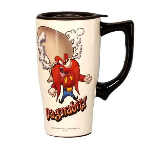 Looney Tunes Yosemite Sam White Travel Mug with Handle