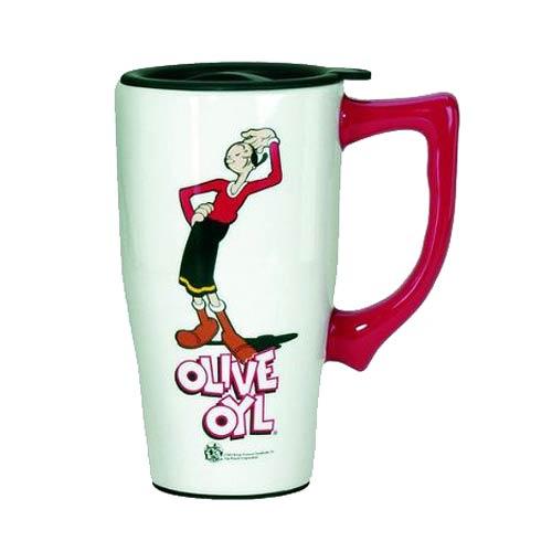 Popeye Olive Oyl White Travel Mug with Handle