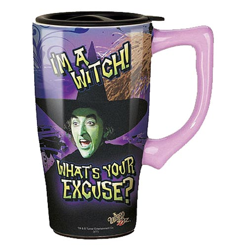 Wizard of Oz Wicked Witch Travel Mug with Handle
