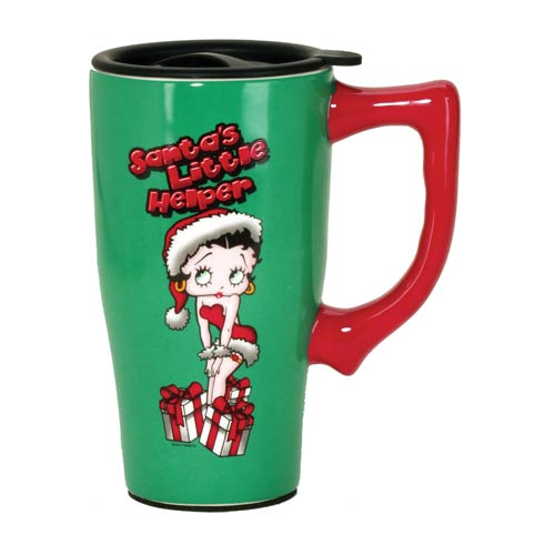 Betty Boop Christmas Travel Mug with Handle