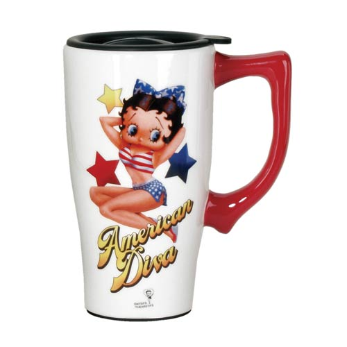 Betty Boop Diva Travel Mug with Handle