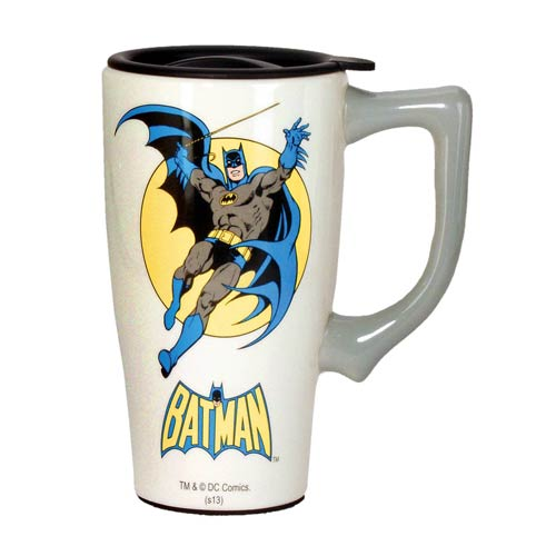 Batman White Travel Mug with Handle