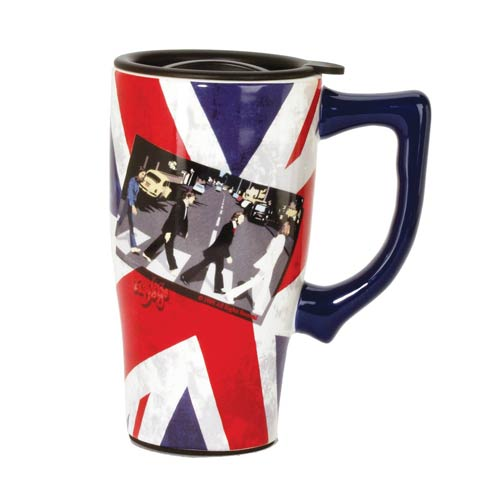 The Beatles Abbey Road Union Jack Travel Mug with Handle