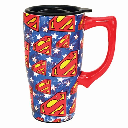 Superman Logo 16 oz. Ceramic Travel Mug