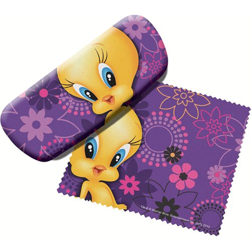 Looney Tunes Tweety Bird Eyeglass Case with Cleaning Cloth