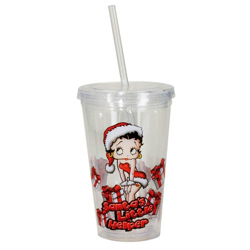 Betty Boop Santa's Little Helper Travel Cup
