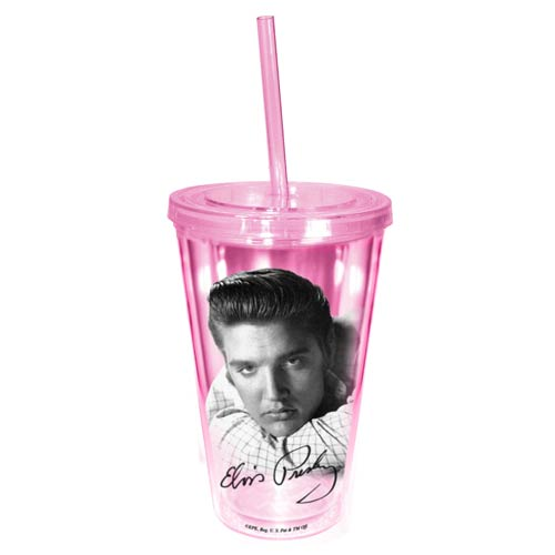 Elvis Presley Pink Travel Cup