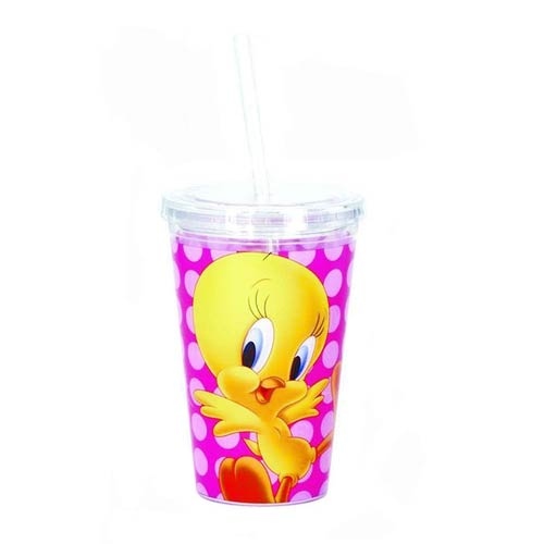 Looney Tunes Tweety Bird 16 oz. Travel Cup with Straw
