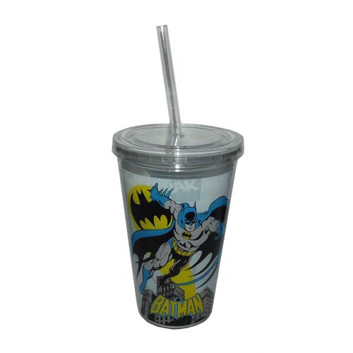 Batman Comic Book Art 16 oz. Travel Cup with Straw