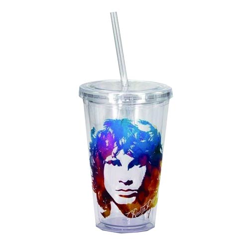 The Doors Jim Morrison 16 oz. Travel Cup with Straw
