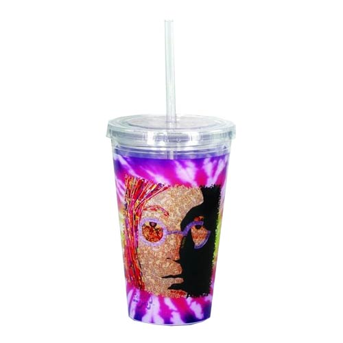 The Beatles John Lennon 16 oz. Travel Cup with Straw