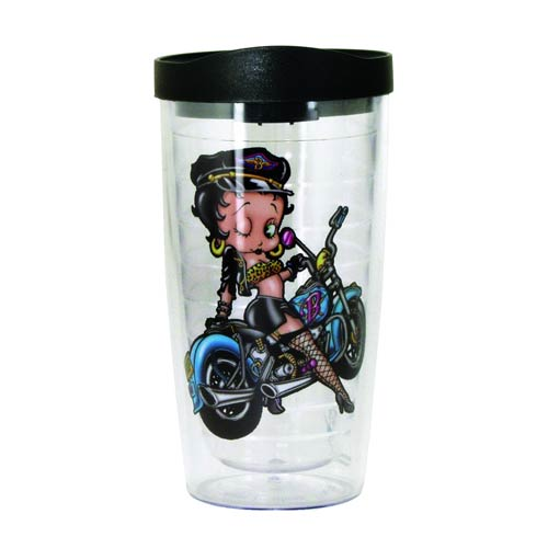 Betty Boop Biker Insulated Tumbler