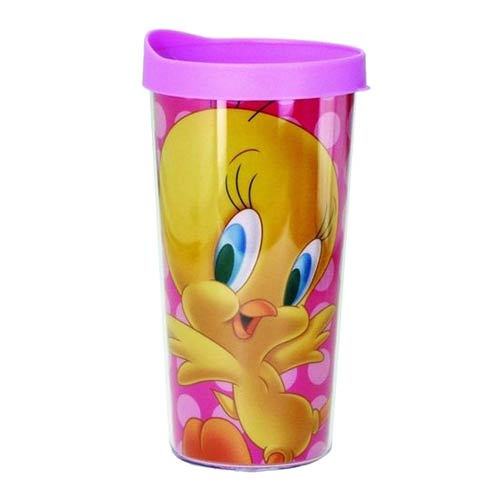 Looney Tunes Tweety Bird Pink Insulated Tumbler