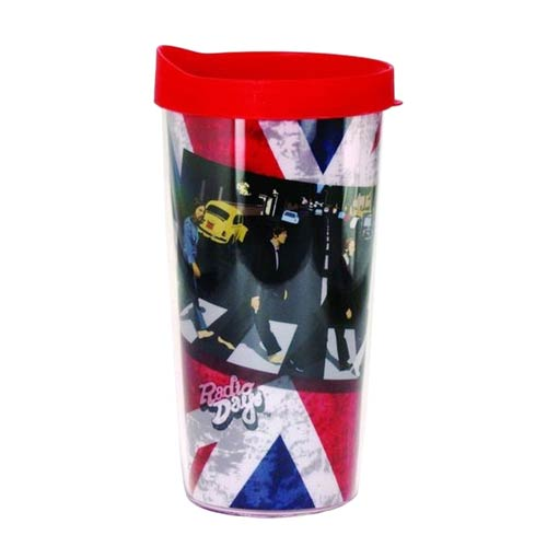 The Beatles Union Jack Abbey Road Insulated Tumbler