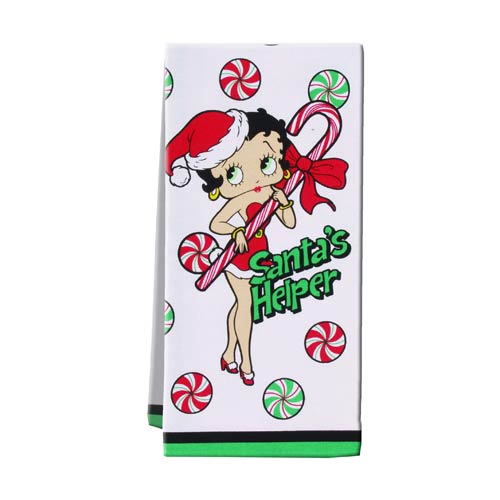 Betty Boop Christmas Tea Towel