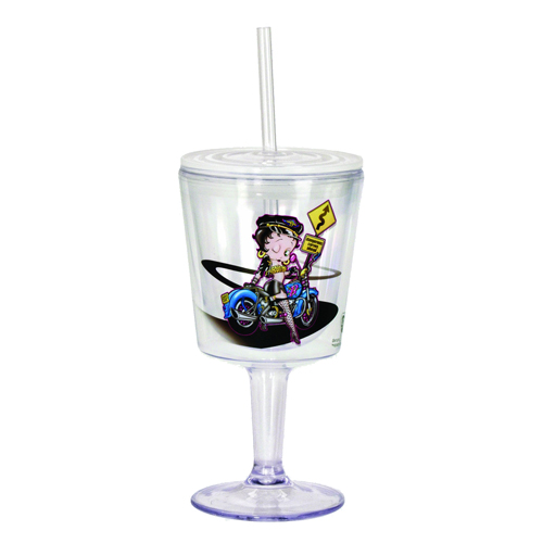 Betty Boop Biker Insulated Goblet with Lid