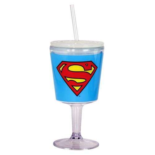 Superman Insulated Goblet with Lid