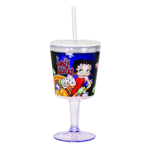 Betty Boop Lady Luck Insulated Goblet with Lid