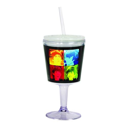 The Beatles Group Photo Insulated Goblet with Lid