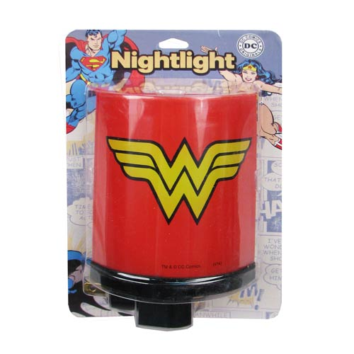 Wonder Woman Logo Red Nightlight