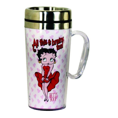 Betty Boop Brains Insulated Travel Mug with Handle