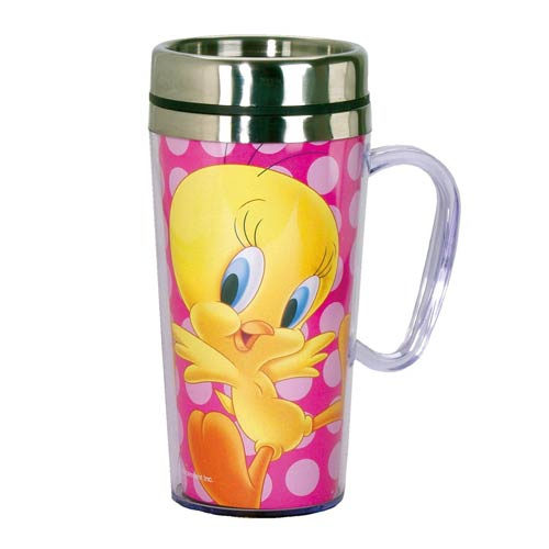 Looney Tunes Tweety Bird Insulated Travel Mug with Handle