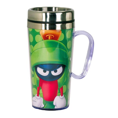 Looney Tunes Marvin Martian Insulated Travel Mug with Handle