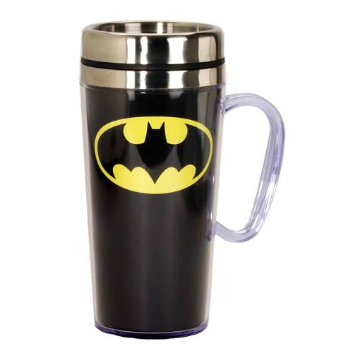 Batman Insulated Black Travel Mug with Handle