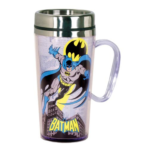 Batman Comic Panel White Insulated Travel Mug with Handle