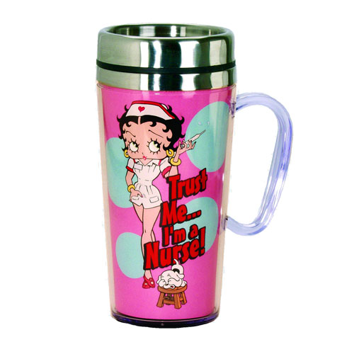 Betty Boop Nurse Insulated Travel Mug with Handle