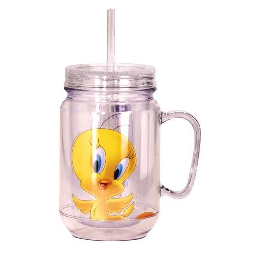 Looney Tunes Tweety Bird Clear Mason-Style Jar with Lid