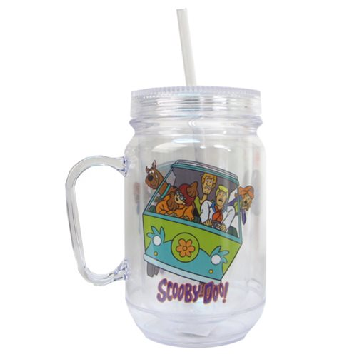 Scooby-Doo Group Clear Mason-Style Jar w/ Lid and Handle