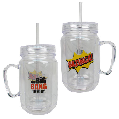 The Big Bang Theory Bazinga Clear Mason Plastic Jar with Lid