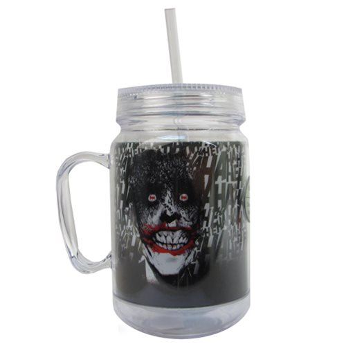 Batman Joker 16 oz. Mason-Style Plastic Jar