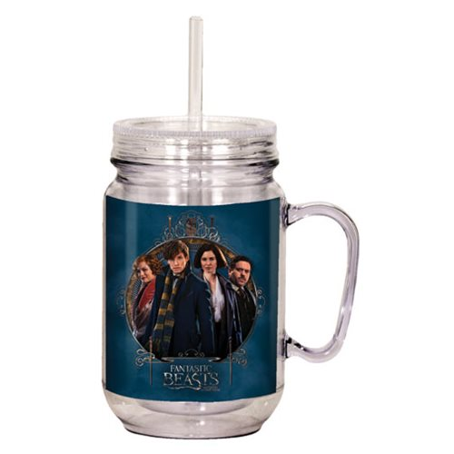 fantastic beasts and where to find them plastic mason jar spoontiques harry potter travel. Black Bedroom Furniture Sets. Home Design Ideas