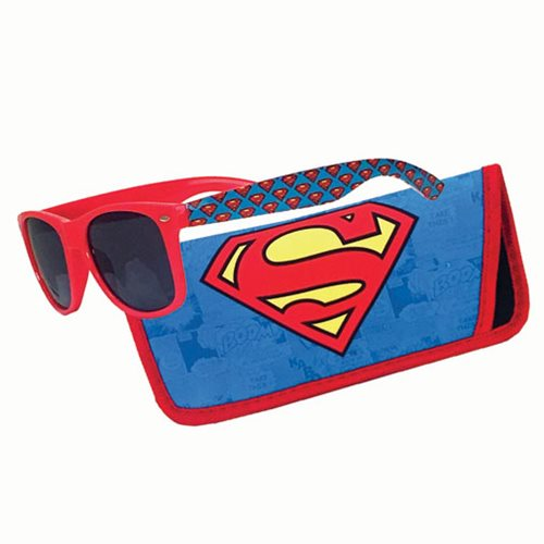 Superman Logo Sunglasses with Carry Case