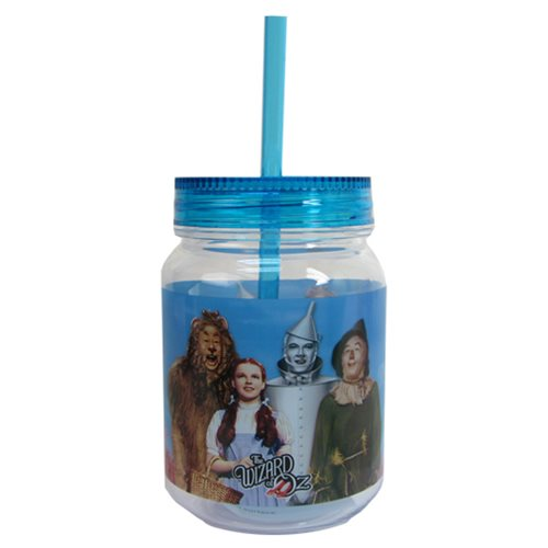 The Wizard of Oz Cast Photo 18 oz. Mason-Style Jar with Lid
