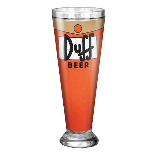 The Simpsons Duff Beer 16 oz. Acrylic Pilsner Glass